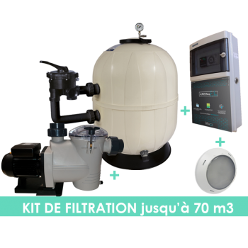 Kit filtration EVO Side 22m3/h